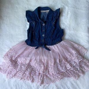 Calvin Klein Jean/lace dress for 4T